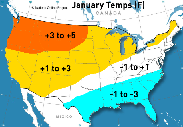 winter outlook January temps