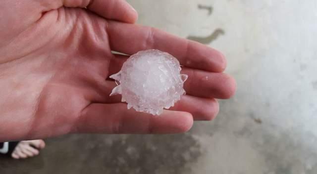 Logan hail 4-28
