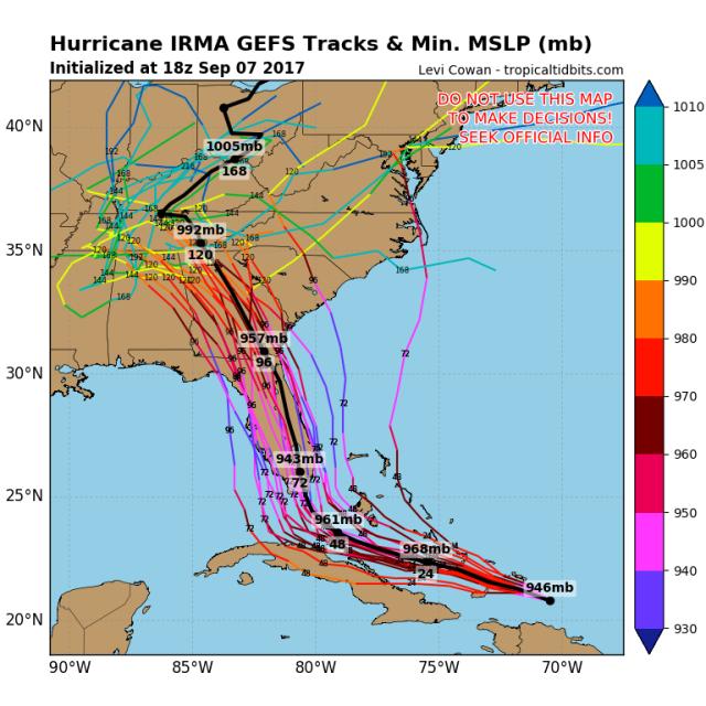 Irma GEFS tracks