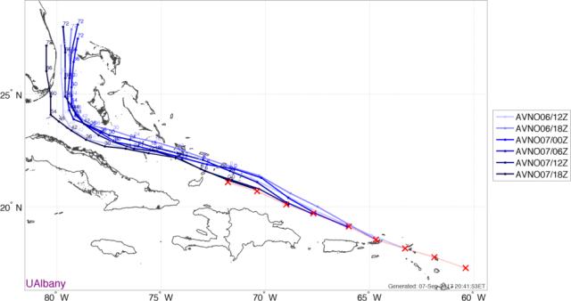 Irma GFS trend