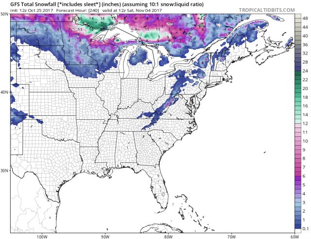 GFS snow 12z