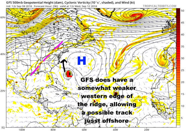 9-8 Florence GFS 96